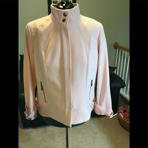 Chico's pale pink wool jacket size 3